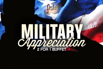 Military Appreciation 2 for 1 Buffet