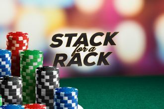 Poker stack for a rack
